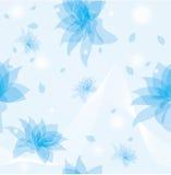 Fond sans joint avec des fleurs Photographie stock