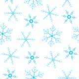 Fond sans joint avec des flocons de neige Photo stock