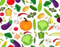 Fond sans joint avec des légumes ou illustration stock