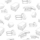 Fond sans joint avec des livres Photos stock