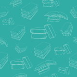 Fond sans joint avec des livres Photos libres de droits