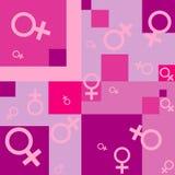 Fond sans joint avec des symboles femelles illustration stock