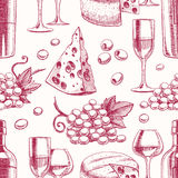 Fond sans joint avec du vin illustration de vecteur