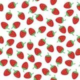 Fond sans joint avec la fraise Image libre de droits