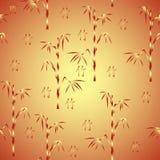 Fond sans joint avec le bambou et l'hiéroglyphe Photographie stock