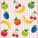 Fond sans joint avec le fruit Photo stock