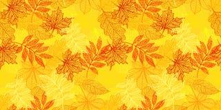 Fond sans joint avec les lames d'automne colorées illustration stock