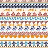 Fond sans joint aztèque Modèle coloré ethnique tribal Photos libres de droits