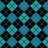 Fond sans joint bleu d'Argyle Image libre de droits