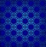 Fond sans joint bleu Rétro ornement Vecteur eps10 Images libres de droits