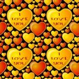 Fond sans joint, coeurs de Valentine Images stock