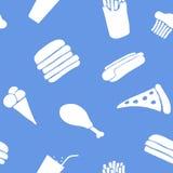 Fond sans joint d'aliments de préparation rapide Photographie stock libre de droits