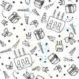 Fond sans joint d'anniversaire illustration stock