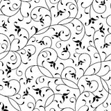 Fond sans joint d'isolement par noir oriental floral illustration libre de droits