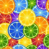 Fond sans joint d'orange d'arc-en-ciel Photos libres de droits