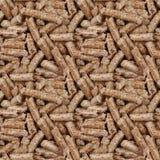Fond sans joint de boulettes en bois Image stock