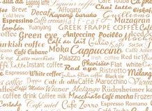 Fond sans joint de café Photographie stock libre de droits