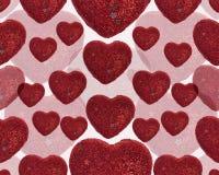 Fond sans joint de coeurs rouges Photos libres de droits
