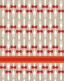 Fond sans joint de configuration de couverts de Noël Image stock