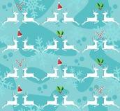 Fond sans joint de configuration de renne de Noël illustration stock