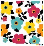 Fond sans joint de configuration de fleur Images libres de droits