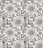 Fond sans joint de fleur décorative Photographie stock
