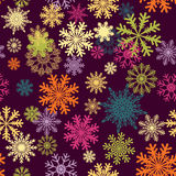 Fond sans joint de flocons de neige illustration libre de droits