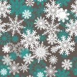 Fond sans joint de flocons de neige illustration stock