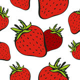 Fond sans joint de fraise illustration de vecteur