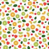 Fond sans joint de fruit Vecteur Image stock