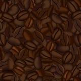 Fond sans joint de grains de café illustration stock