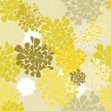Fond sans joint de jaune de fleur Photographie stock libre de droits