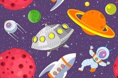 Fond sans joint de l'espace de dessin animé Image libre de droits