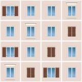 Fond sans joint de la façade classique de construction Photos libres de droits