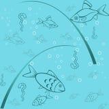 Fond sans joint de la pêche illustration de vecteur