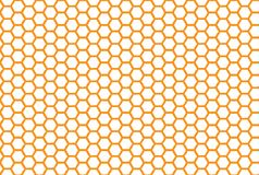 Fond sans joint de nid d'abeilles Modèle sans couture simple de nid d'abeilles d'abeilles Illustration Impression de vecteur illustration stock