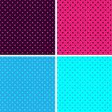 Fond sans joint de point de polka de configuration Images stock