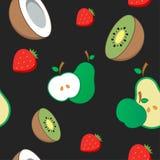 Fond sans joint de vecteur Modèle de fruit Image libre de droits