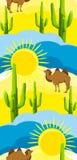 Fond sans joint du désert Images libres de droits
