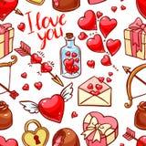 Fond sans joint du jour de Valentine illustration stock