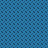 Fond sans joint en métal de Checkerplate de bleu en acier Images stock