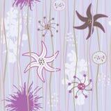 Fond sans joint floral Images libres de droits