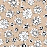 Fond sans joint floral Photographie stock
