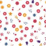 Fond sans joint floral de configuration Texture décorative de conception de ressort Photo libre de droits