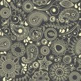 Fond sans joint floral de Paisley illustration stock