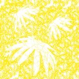 Fond sans joint floral jaune Image libre de droits