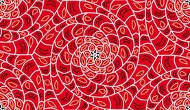 Fond sans joint géométrique de configuration Couleur rouge, spirales illustration libre de droits