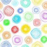 Fond sans joint spiralé Modèle de vecteur avec des spirales Descripteur de vecteur Images stock