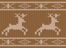 Fond sans joint tricoté de Noël illustration libre de droits