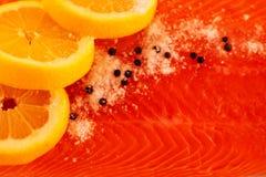 Fond saumoné salé photo stock